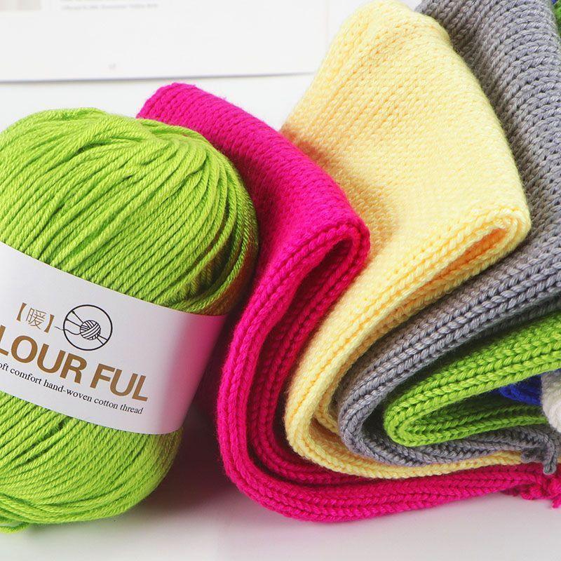 Ganchillo de fibra de bambú de Cachemira de 500g Para Tejer a mano, Lana merina, suéter teñido ecológico, materiales de artesanía Para muñeca, Lana Para Tejer