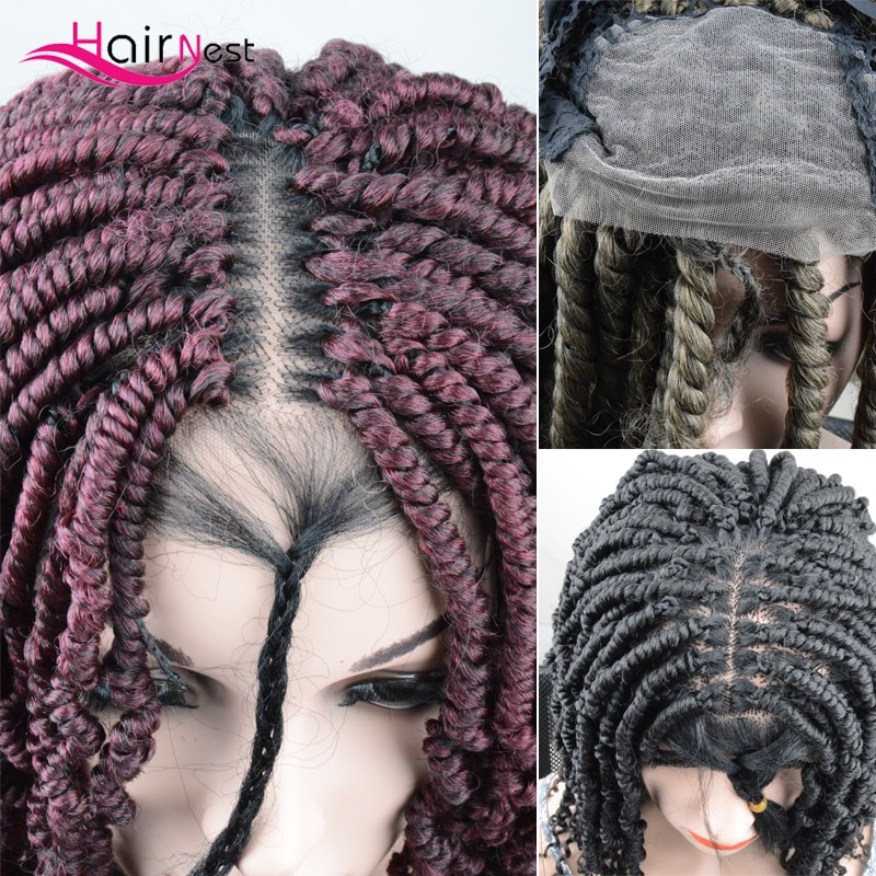 Hair Nest lace front wig synthetic hair DIY wigs Crochet Briads Women's wigs synthetic lace front blonde wigs afro wig female