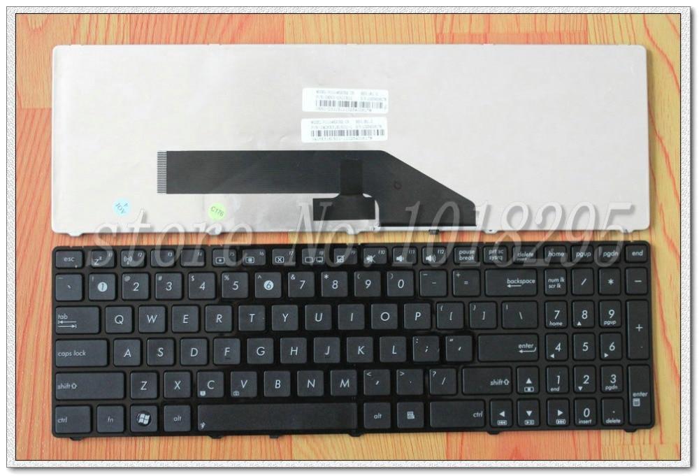 Novo teclado do portátil inglês para asus k50 k50in k61 k50x k50a k50ab k50id teclado dos eua com quadro