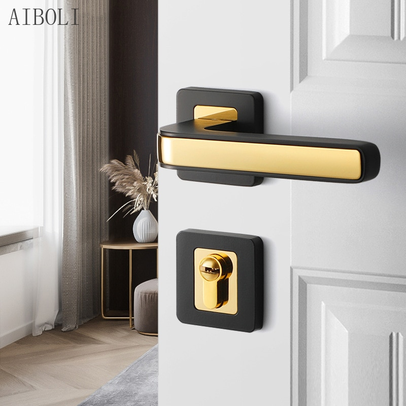 الحديث الداخلية السرير قفل باب الغرفة باب من الخشب الصلب قفل بسيط قفل باب الغرفة كتم سبليت قفل مقبض المنزلية قفل باب الغرفة
