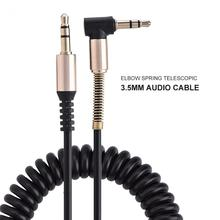3.5 Jack Aux Cable 3.5mm Car Spring Audio Cable Gold Plated jack male to male speaker cables for Hea