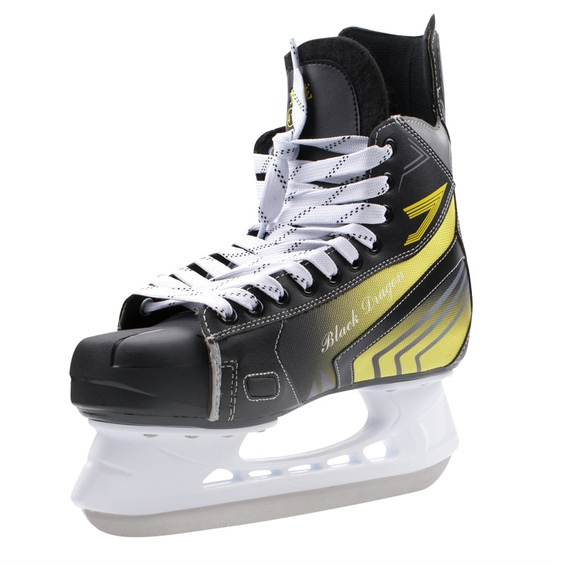 Winter Adult Teenagers Professional Breathable Thick Thermal Warm PVC  Ice Hockey Skating Shoes With Ice Blade Training Shoes