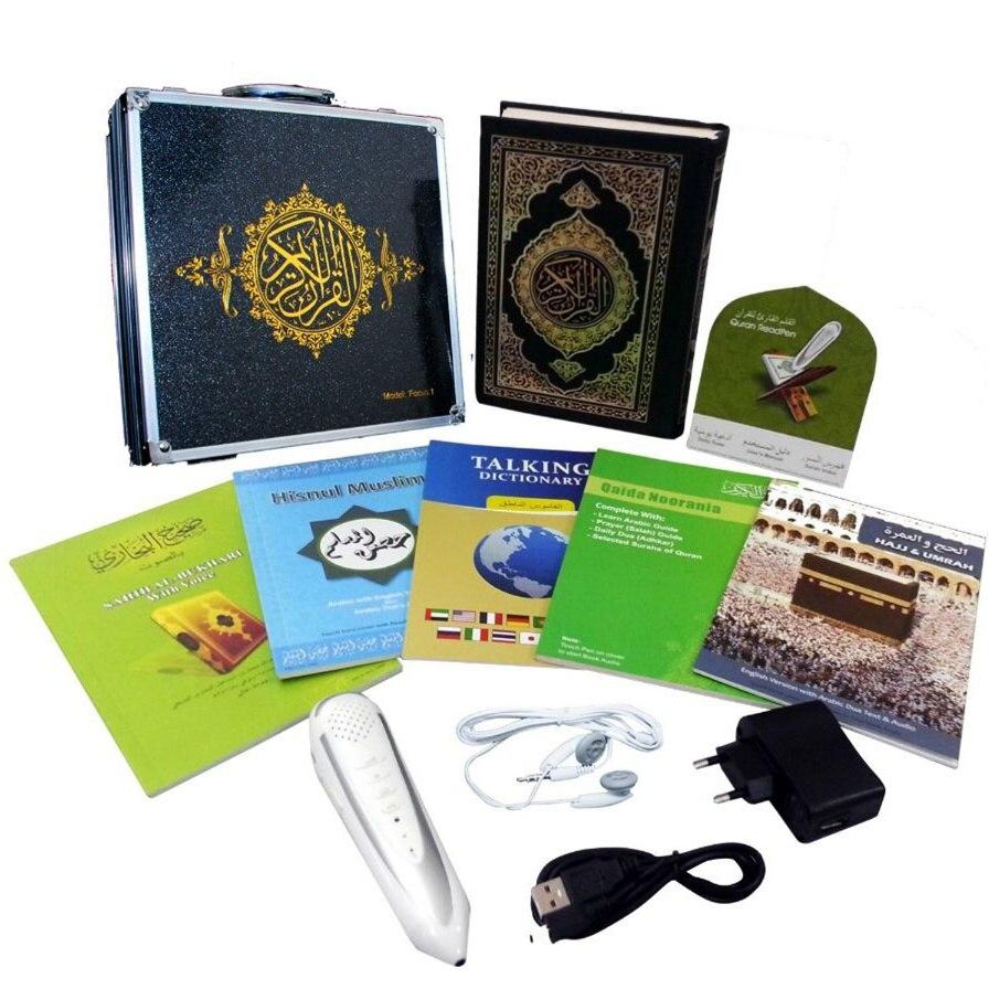 Электронная ручка-плеер с цифровым Кораном, читающая Коран, читающая ручка-динамик более 25 переводов, французский английский урду Испанский Немецкий язык, Бесплатная загрузка голоса