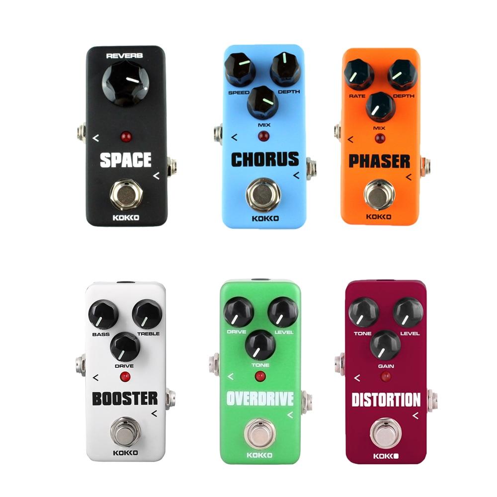 KOKKO guitarra Pedal de Overdrive de distorsión del Pedal del efecto sintonizador de Cable adaptador de corriente coro Looper reverberación Pedal