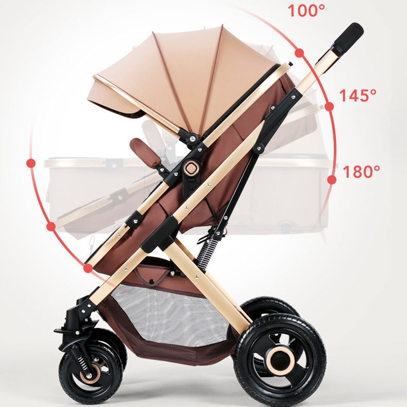 High landscape Baby Stroller Multi-functional Can Sit Reclining Light Folding Two-way Eggshell Design BBSONG enlarge