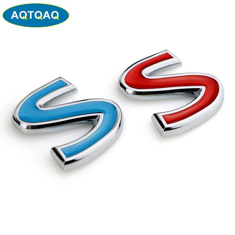 AQTQAQ 1Pcs 3D Metal S IPL Car Side Fender Rear Trunk Emblem Badge Sticker Decals for Infiniti Q50 Q50L,car stickers funny