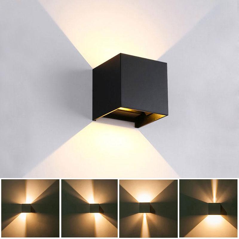 12 Вт светодиодный настенный светильник для помещений, водонепроницаемый светильник IP65, регулируемый угол луча, дизайнерский куб, светодиод...