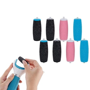 8Pcs Coarse Replacement Refill Roller Head Electric Pedicure Foot File Tool