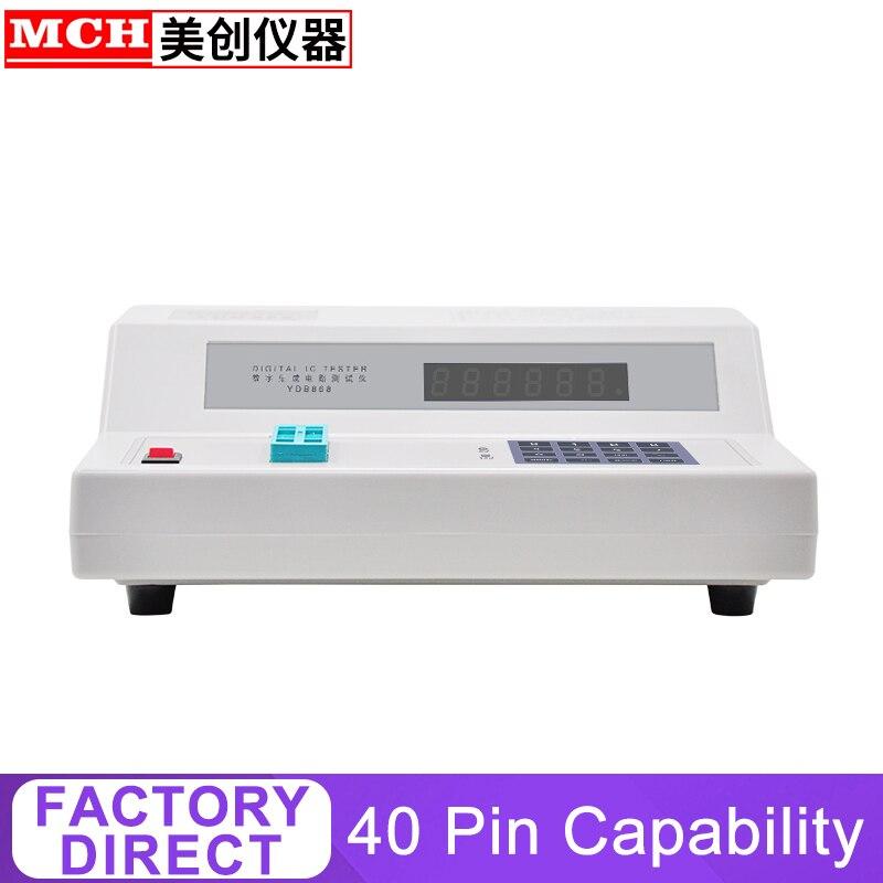 Probador Digital IC medida> Dispositivos Tipo 2k serie 54/57 TTL4000 y serie 4500 COMS40 pin capacidad de autodiagnóstico YBD-868