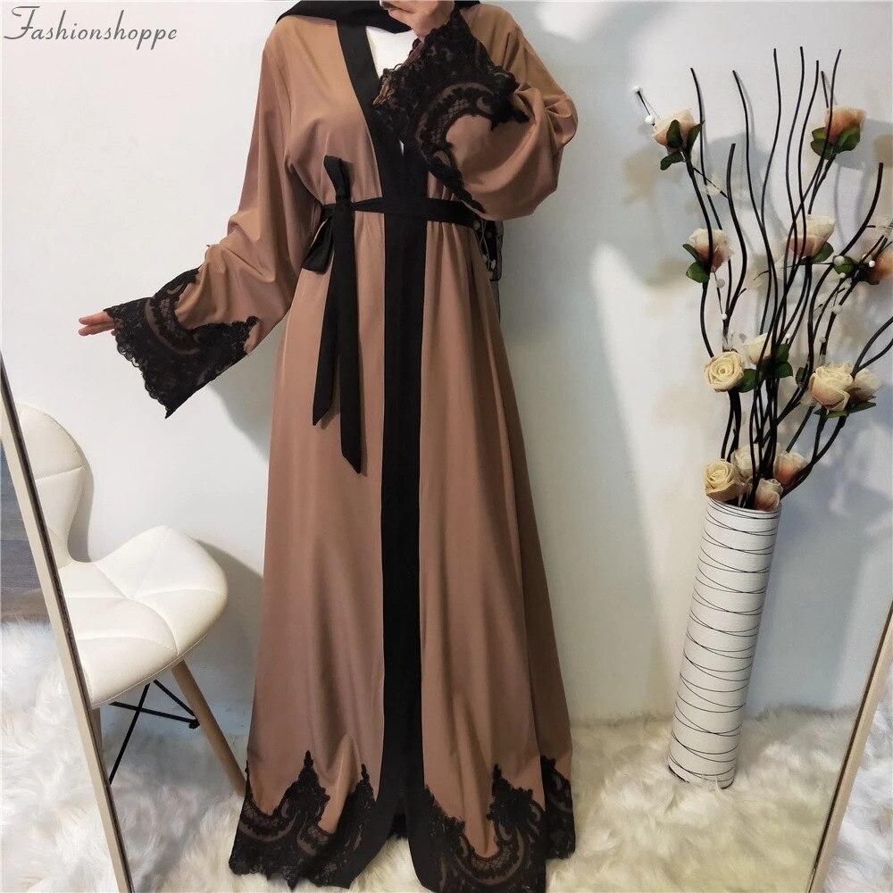 Abaya-Robe islamique pour femme avec Hijab