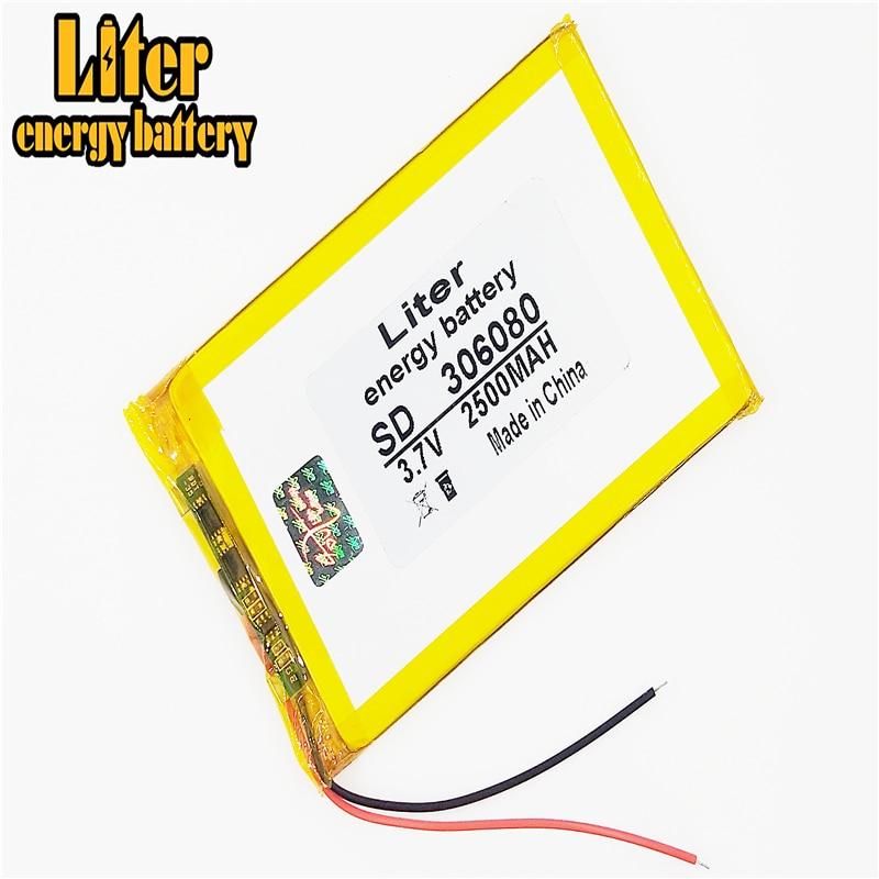 Batería de 2500mAh B39HDS 306080 356080 036080, batería incorporada MP5 dedicada, batería de 3,7 V