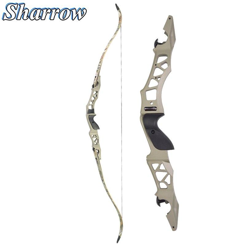Arco recurvo de caza de 64 30/35/40/45/50/55Lbs tiro con arco con Flecha de aleación de aluminio ILF Riser arco de derribo accesorio al aire libre