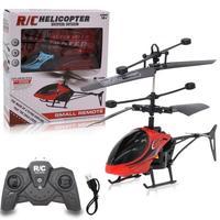 Мини вертолет игрушечный самолет светильник кой индукционный пульт дистанционного управления для детей Детские Канальные игрушки взрослы...