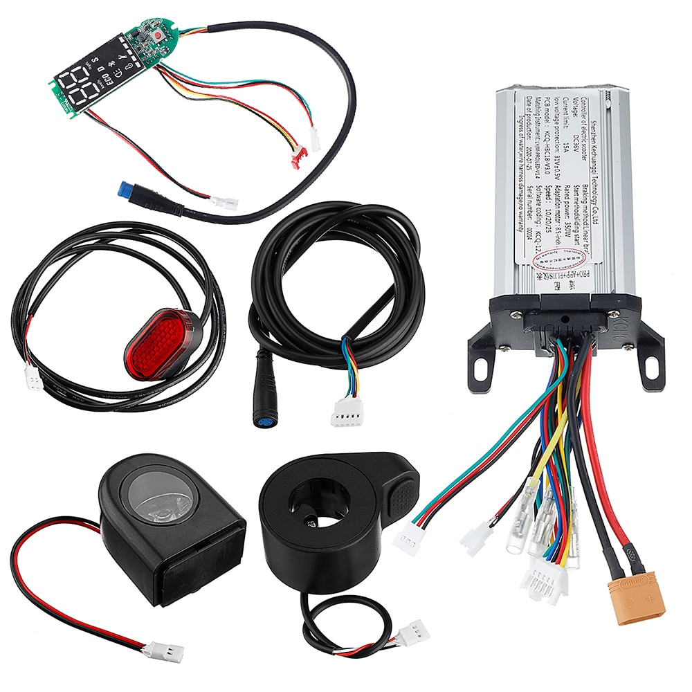 42V 350W 15A Motor Controller+Dashboard+Front/Rear Light Scooter Electric Bicycle E-bike usa canada drop shipping eunorau awd 48v250w 350w front and rear motor electric fat tire bike snow bike with 26x4 0 tire
