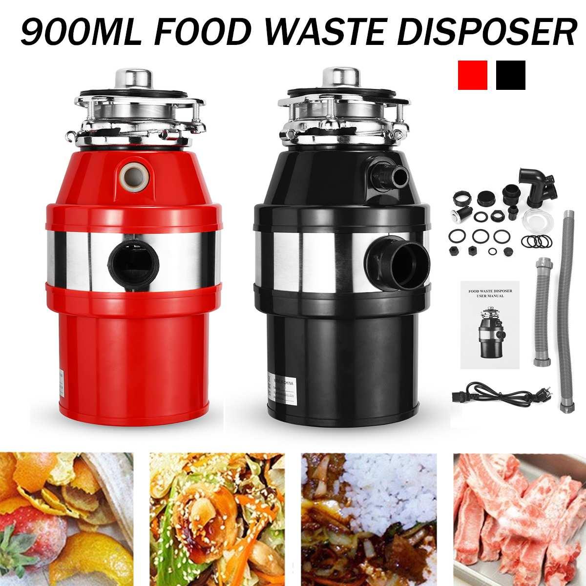 900 مللي المطبخ النفايات المتخلص 2600r/دقيقة الغذاء التخلص من النفايات المطبخ القمامة التخلص الغذاء كسارة مع الفولاذ الصلب طاحونة
