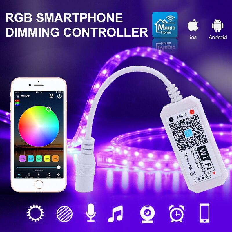 WiFi LED RGB Light Strip Wireless Smart Music Controller LED Controller For Alexa Google Home Magic