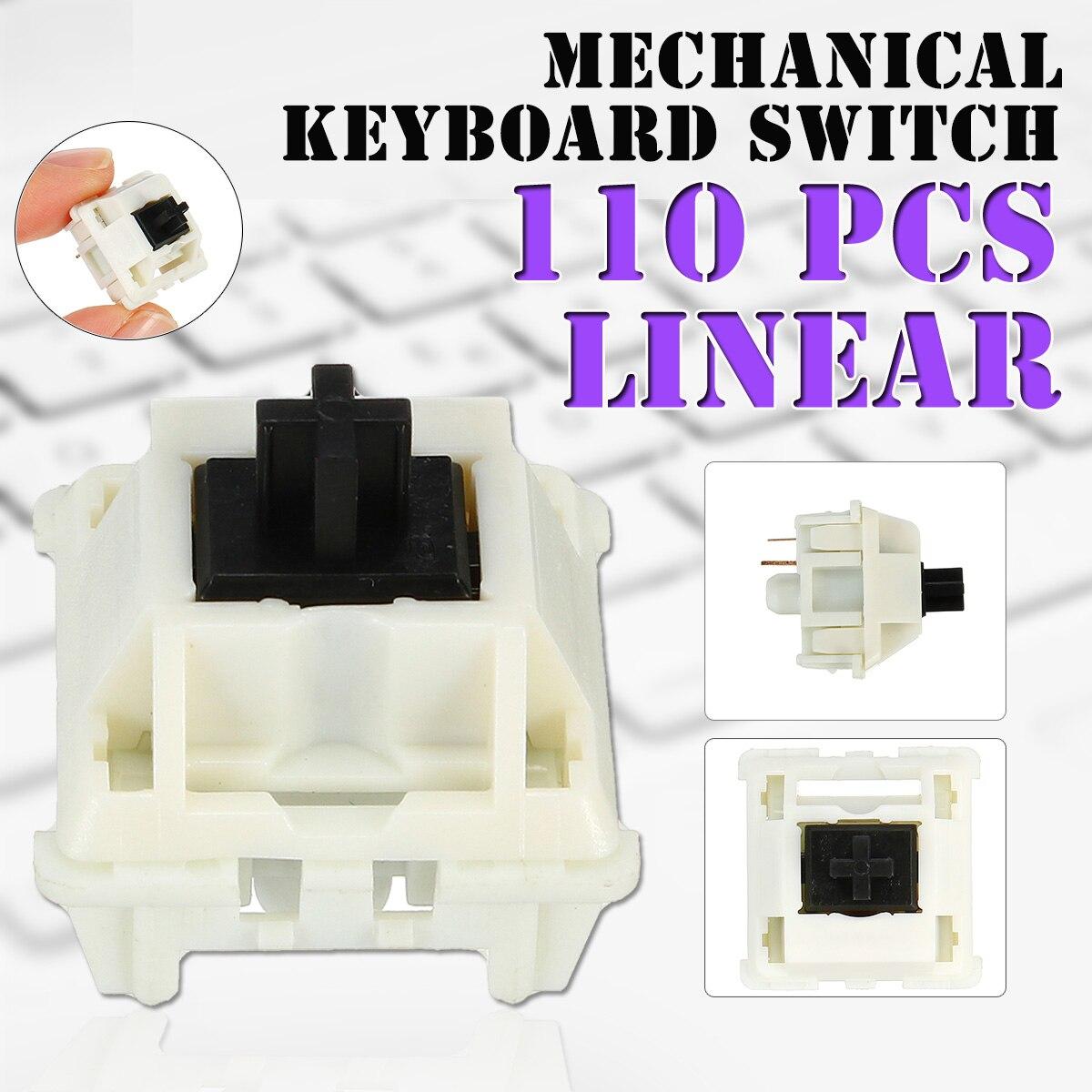 لوحة مفاتيح ميكانيكية بديلة بـ 110 مفتاحًا ، 3 سنون ، عمود لوحة مفاتيح ميكانيكي DIY مثل الباندا المقدسة