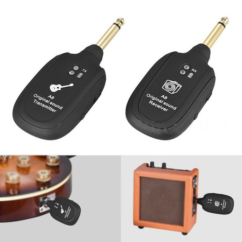 Guitar Wireless Transmission System Electric Guitar Wireless Pickup Wireless Transceiver A8 Guitar Wireless Receiver enlarge