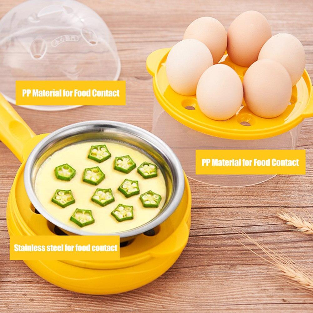 ¡Oferta! Sartén eléctrica multifunción para huevos, tortitas, sartén eléctrica, minisartén antiadherente, artefacto para desayuno en casa TI99