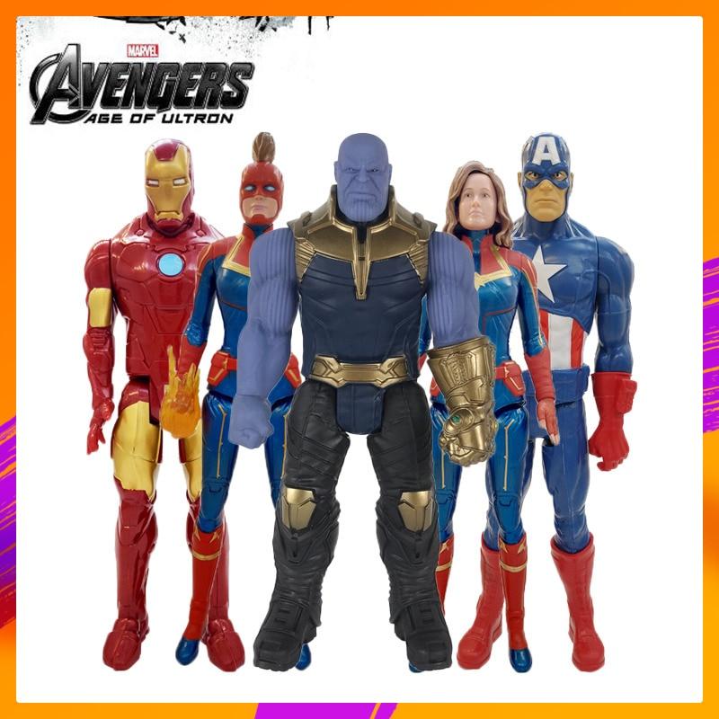 30cm Marvel Avengers Endgame Thanos Spiderman Hulk Iron Man Captain America Thor Wolverine Action Figure Spielzeug Puppen für Kid