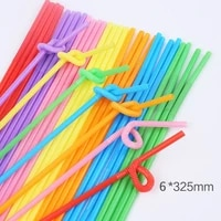 multicolor straws extra long plastic drinking straws for party weddings celebrations bar juice drinking supplies