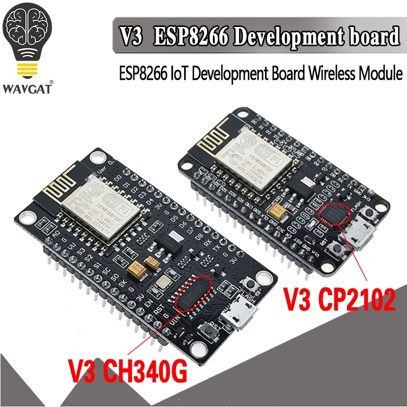 V3 Wireless Module NodeMcu 4M Bytes Lua WIFI Internet of Things Board based ESP8266 ESP-12E for Arduino Compatible CH340/CP2102