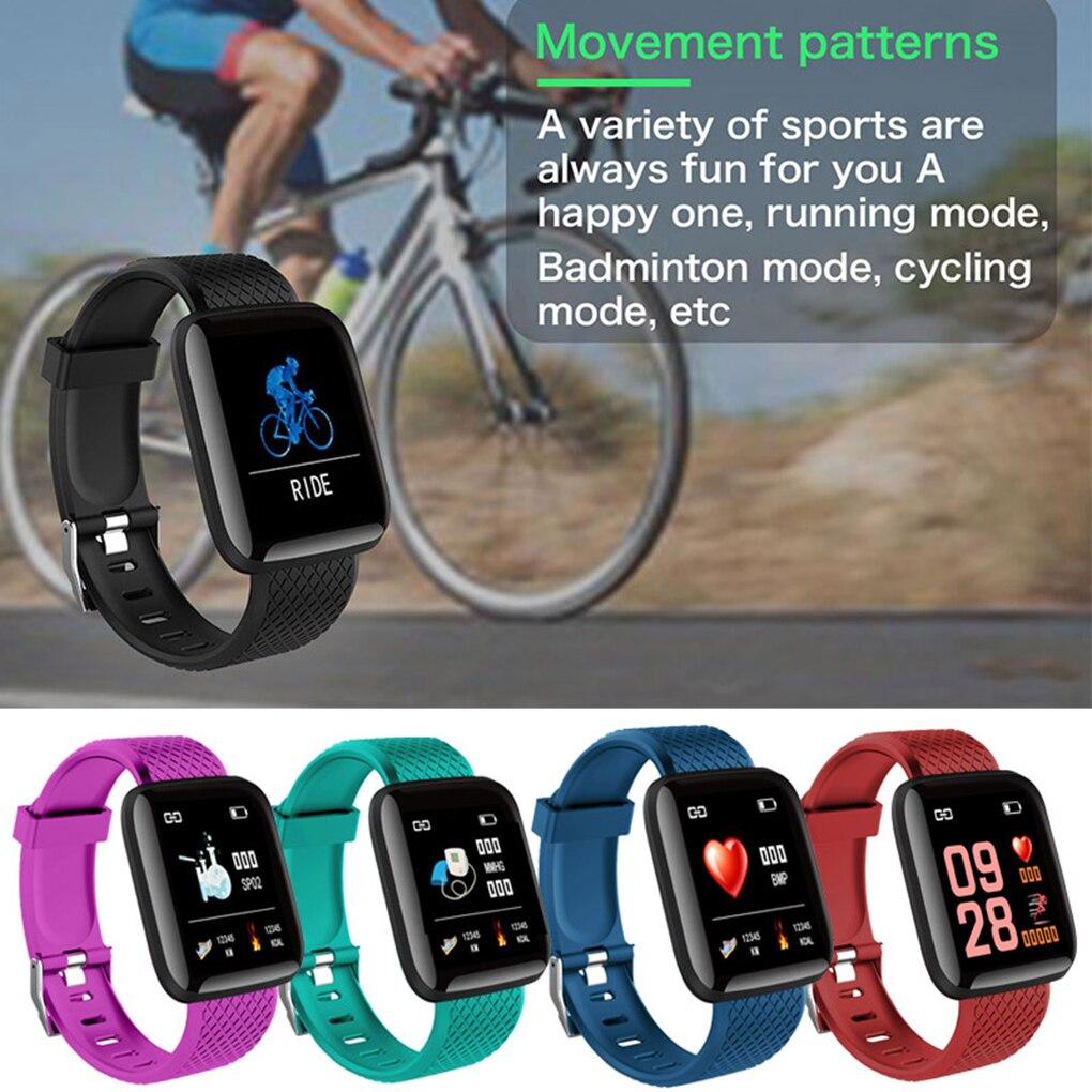Smart Bracelet Blood Pressure Measurement Waterproof Fitness Tracker Watch Heart Rate Monitor Pedome