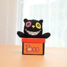 Happy Halloween Phantom Storage Basket Candy Box Trick or Treat House Decor Home Decoration Black Cat Sugar Box Organizer Gift