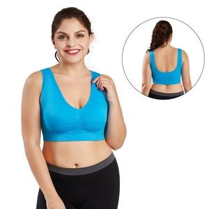 Sports Bra Oversize Women Crop Top No Rims Running Yoga Gym Training Bras Size 6XL