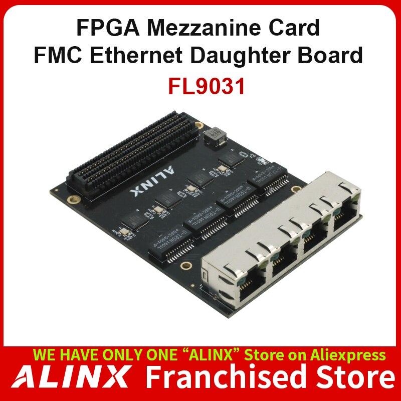 ALINX FL9031: 4 1000M Ethernet FMC Daughter Card for FPGA Board  KSZ9031