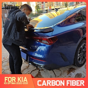 Fit For New KIA K5 Optima DL3 Spoiler 2020 2021 Car Styling ABS Plastic Unpainted Primer Rear Trunk Boot Wing Spoiler Decoration