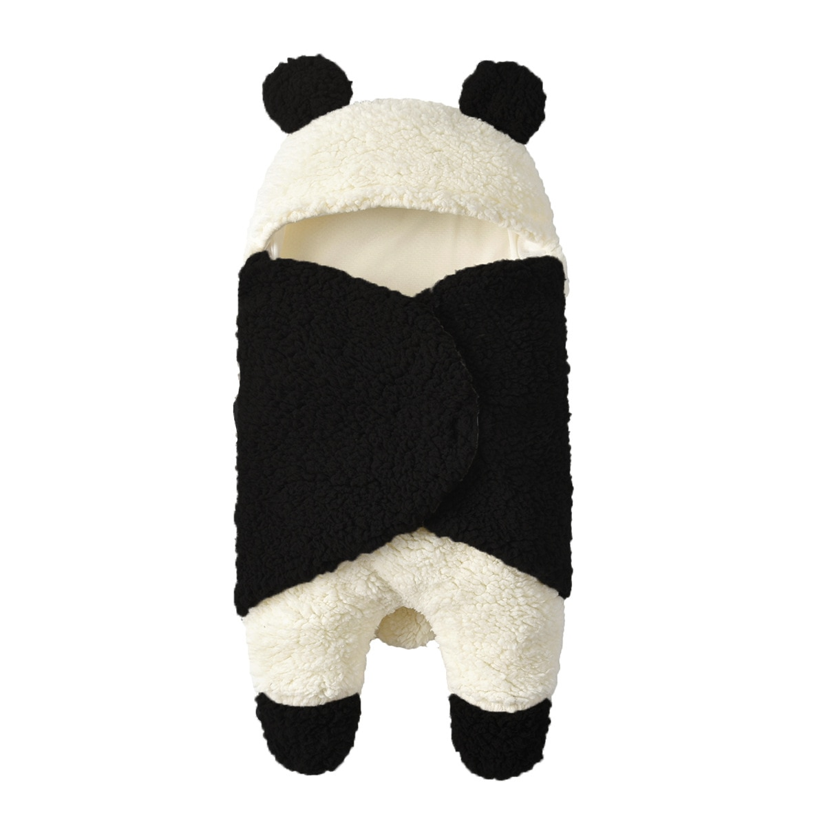 Супер мягкое осенне-зимнее стильное плюшевое Пеленальное Одеяло для младенцев, детское шерстяное одеяло с рисунком панды, ягненка, одеяло