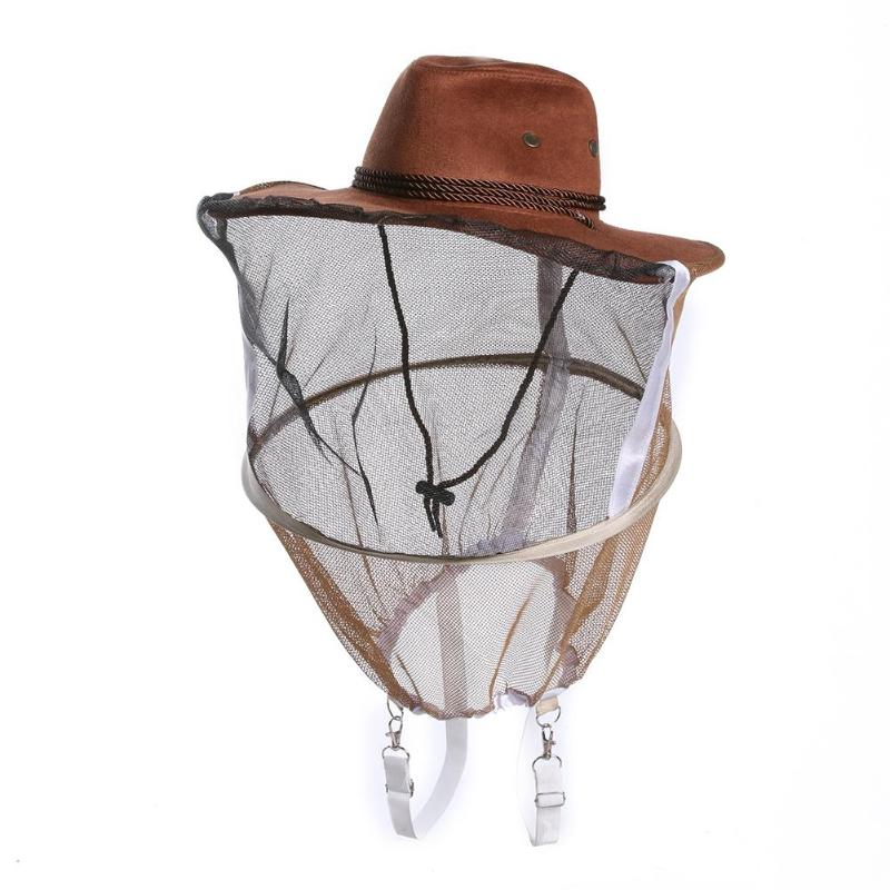 Beekeeping Beekeeper Cowboy Hat Mosquito Bee Insect Net Veil Face Protector Cap Comfortable Design Anti Bee Hat