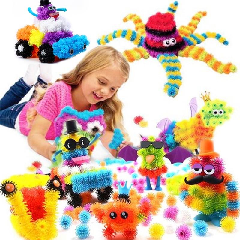 200-1000 pces diy thorn ball montar blocos brinquedos modelo 3d blocos de construção brinquedos para presentes das crianças