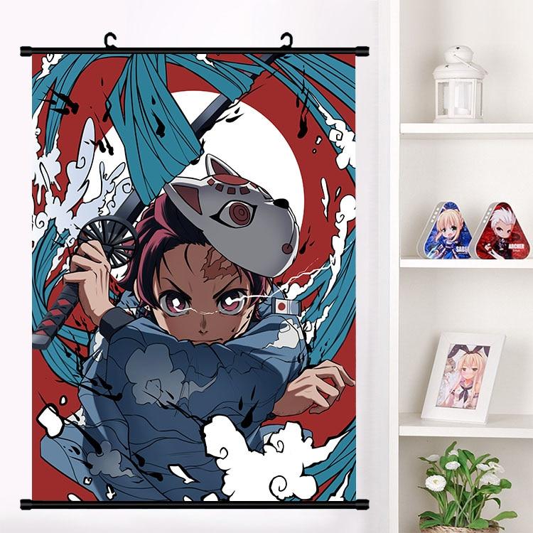 Anime Demônio Assassino Kimetsu não Yaiba Hashibira Kochou Shinobu Kanroji Kamado Pergaminho de Parede Poster Tapeçaria Poster Home Decor