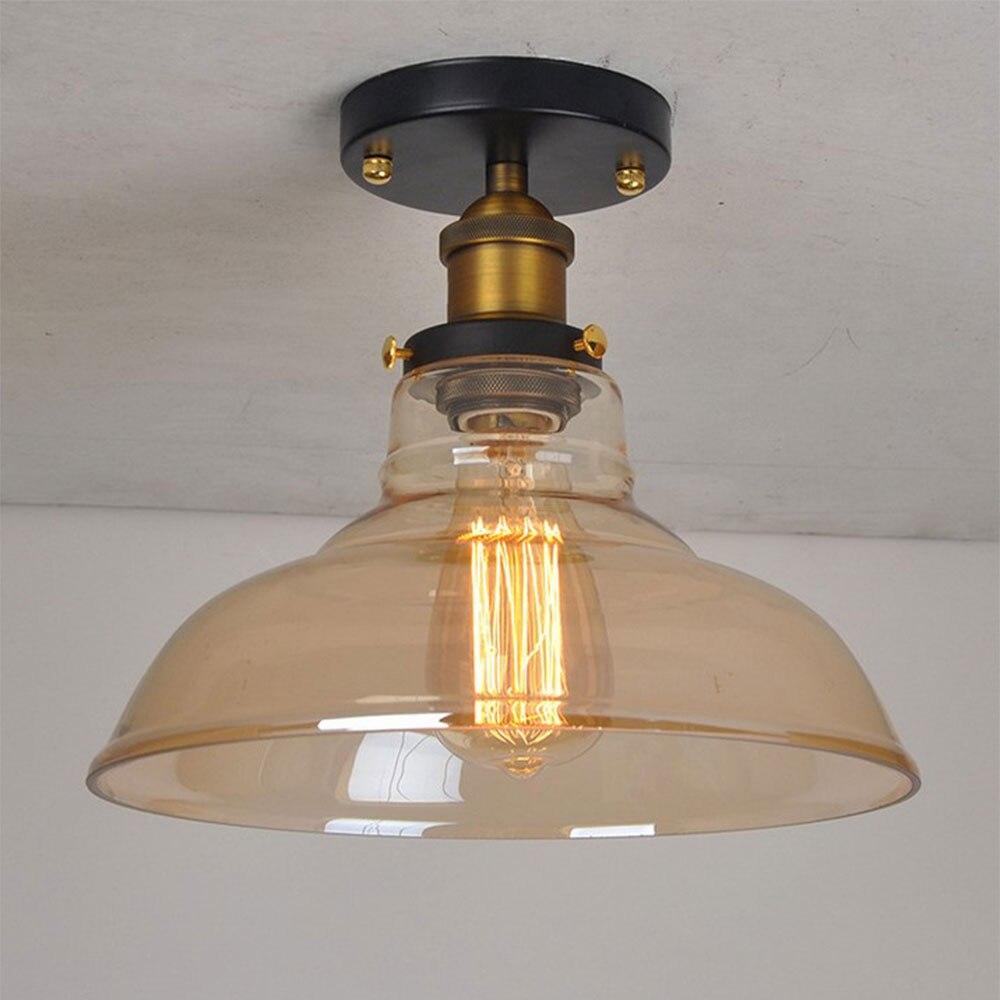 Indústria retro loft lâmpada do teto de vidro Simplicidade Vestiário varanda corredor lâmpada Varanda luz