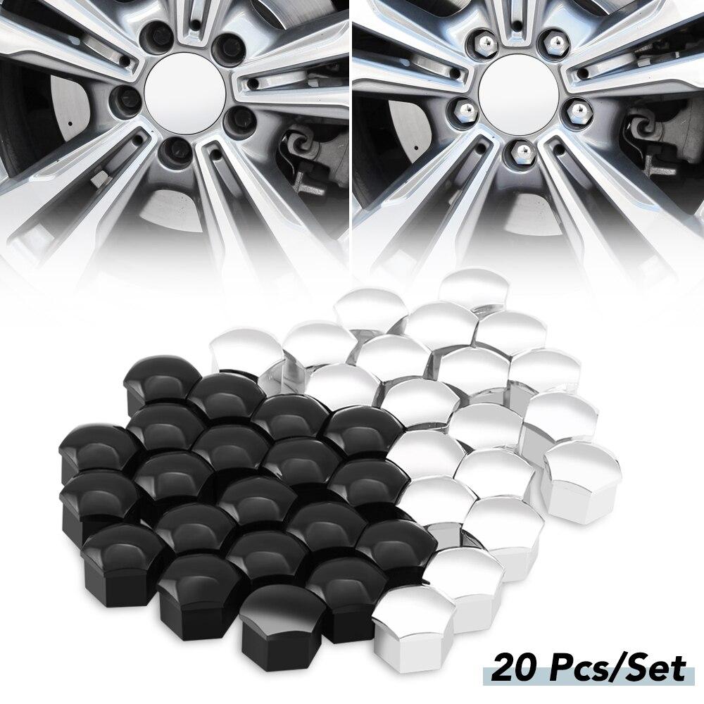 20 piezas tapas de tuerca de rueda de coche cubierta de tornillo 17mm para Mercedes Benz W203 W210 W211 W124 W202 W204 W212 W176 AMG