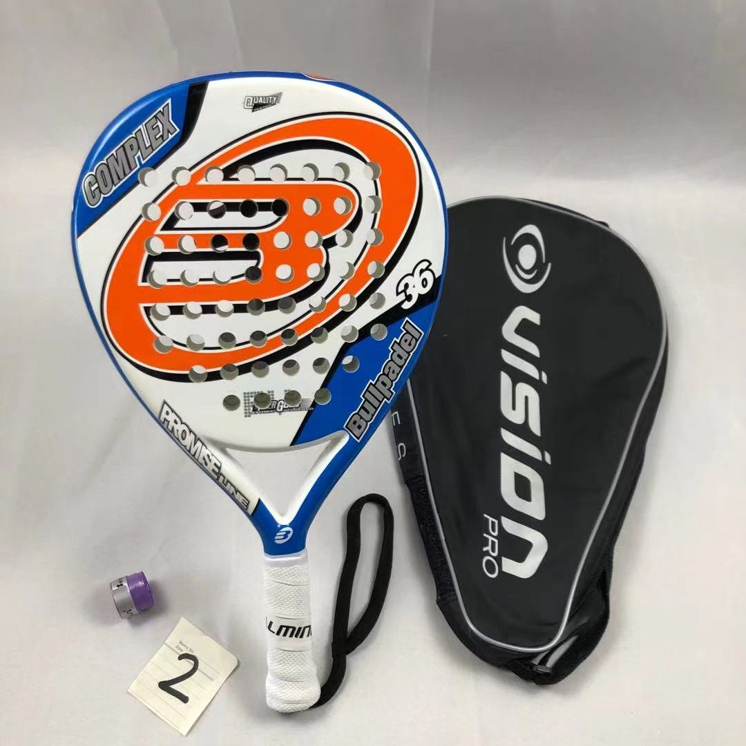 Bullpaddle Carbon Paddle Racket Soft EVA Face Tennis With Padel Racket Bag Professional For Men Women Training Accessories 2021