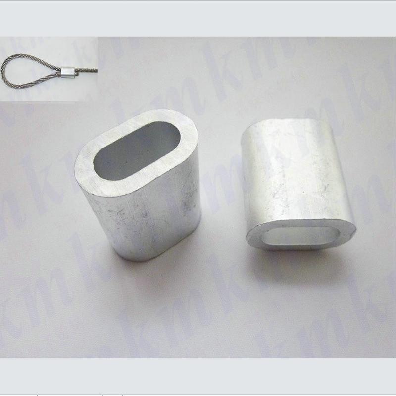 wire rope aluminum oval ferrule sleeves 1000PCS 0.5MM 0.8MM 1MM 1.2MM 1.5MM 1.8MM 2MM