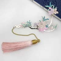 new peach blossom metal bookmarks creative literature pagination marks gifts birthday holiday presents book decoration