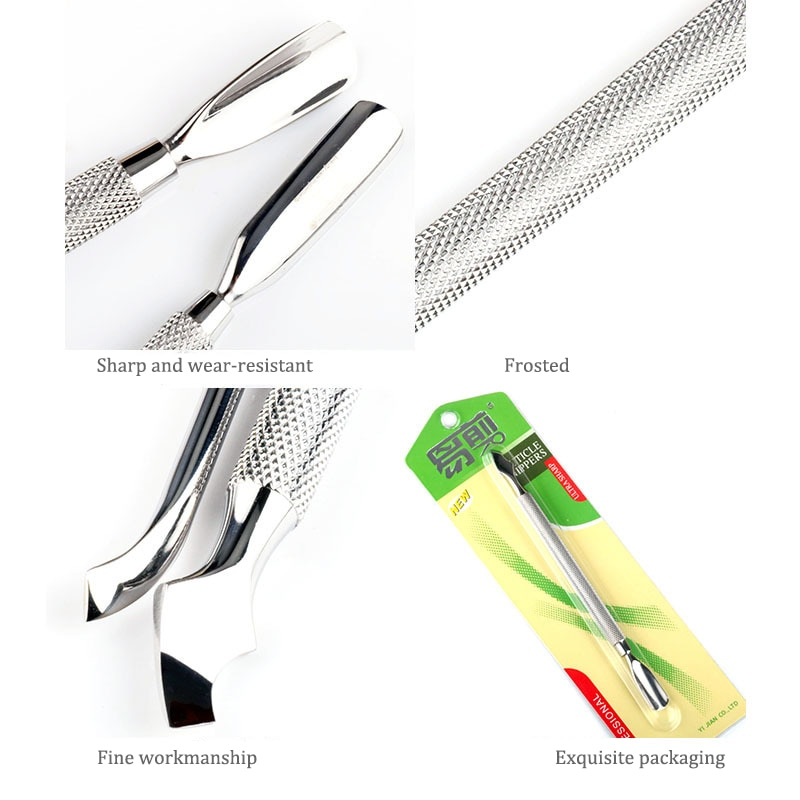 Stainless Steel Nail Art Dual-ended Finger Dead Skin Cut Remover Cuticle Pusher Manicure Pedicure Nail Care Tools  - buy with discount