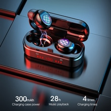 V7 TWS 5.0 بصمة اللمس سماعات بلوتوث ، HD سماعات ستيريو لاسلكية ، إلغاء الضوضاء سماعة الألعاب في الأوراق المالية