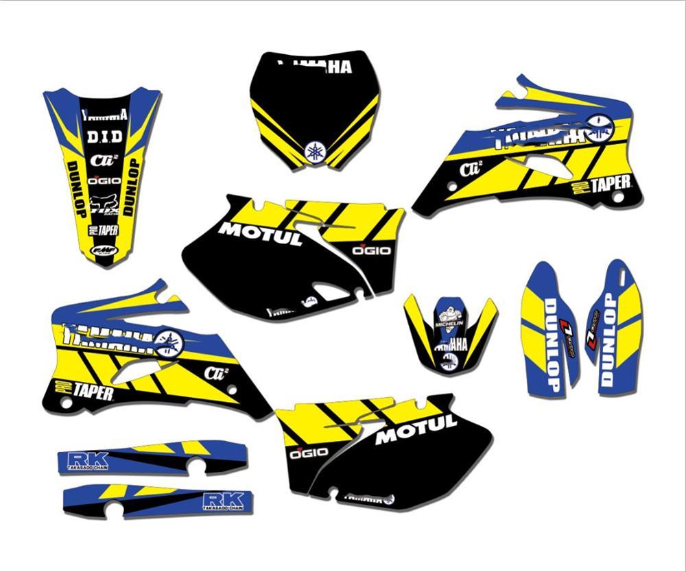 Novo estilo equipe gráficos & fundos decalques adesivos kit para yamaha yz250f yz450f 2006 2007 2008 2009 yzf 250 450 yz 250f 450f