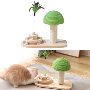 Cat Scratch Ball Cats Scratching Post Solid Catnip Balls Motion Cats Feather