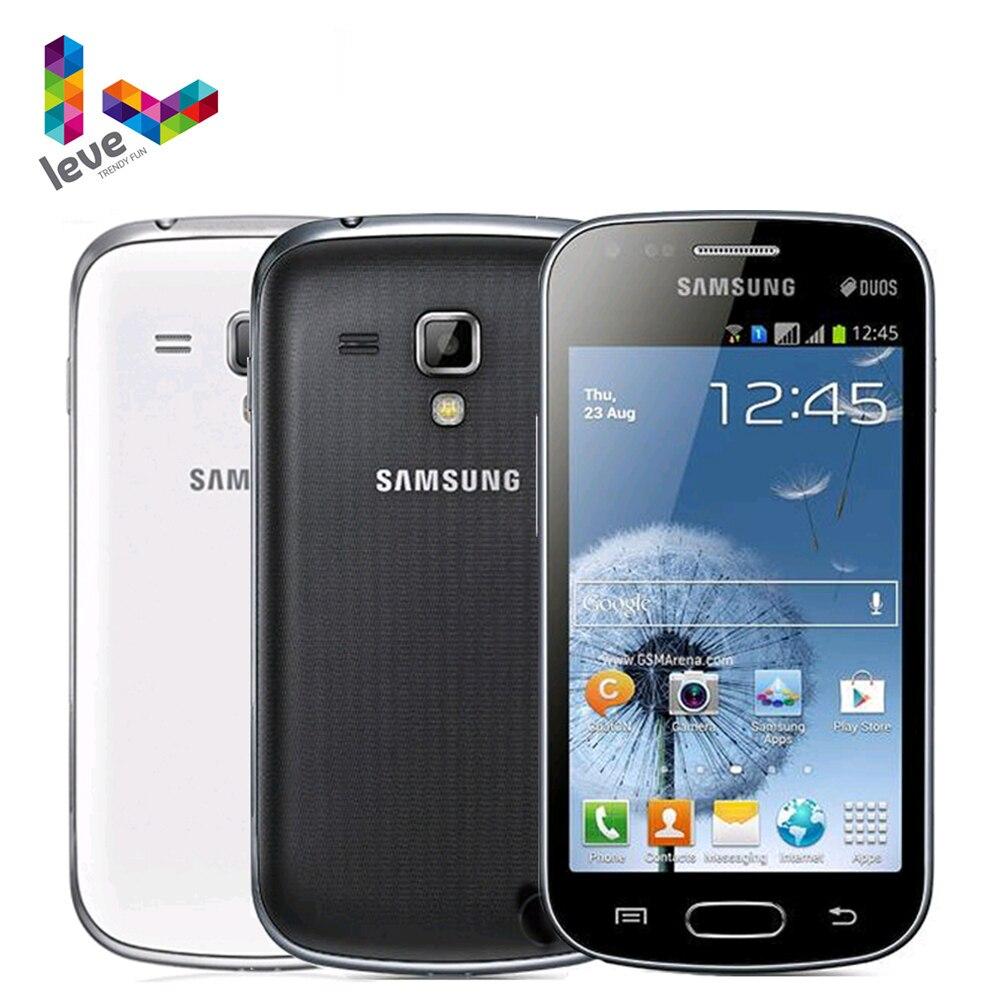 Original GT-S7562 Dual SIM Samsung Galaxy S Duos Unlocked 3G Mobile Phone 4GB Rom Wifi 4.0