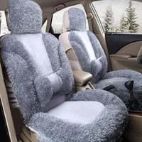 grey frontback faux fur car seat cover set for most automobiles seat covers car seats protector auto interior accessories