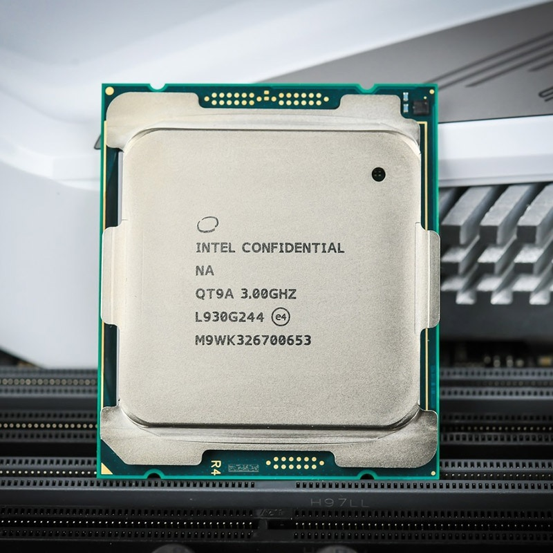 I9 10980xe معالج وحدة المعالجة المركزية محاصر + x299 اللوحة الأم وحدة المعالجة المركزية خادم i9 10980XE (18 النوى و 36 المواضيع)