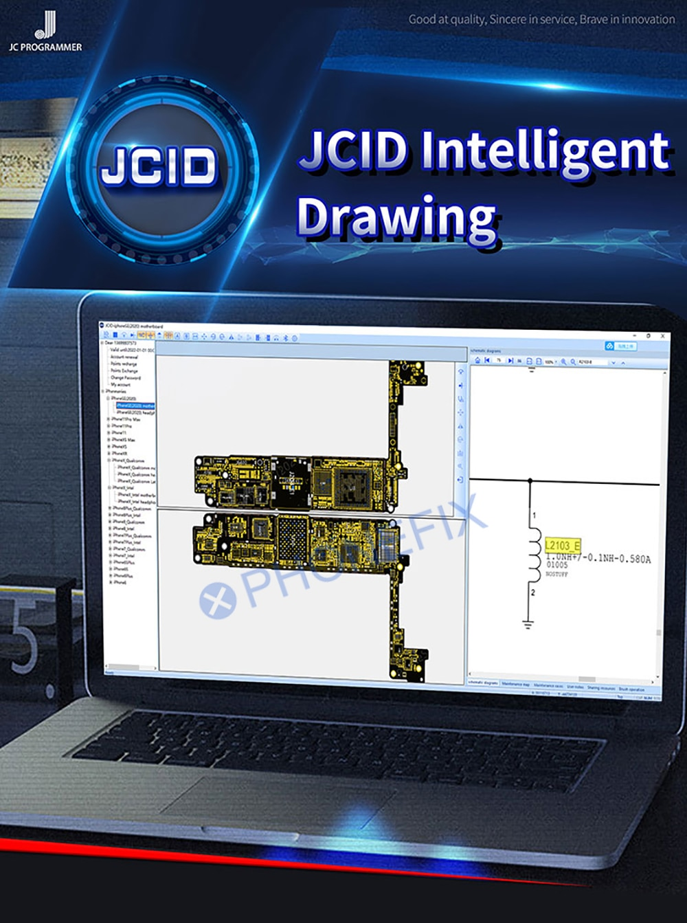 2020 JC Schematic Diagram Bitmap Online Account JCID Intelligent Drawing For iPhone Android Cell Pho