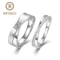 gems ballet 925 sterling silver couple anniversary ring for women men jewelry vvs1 moissanite engagement ring wedding bands