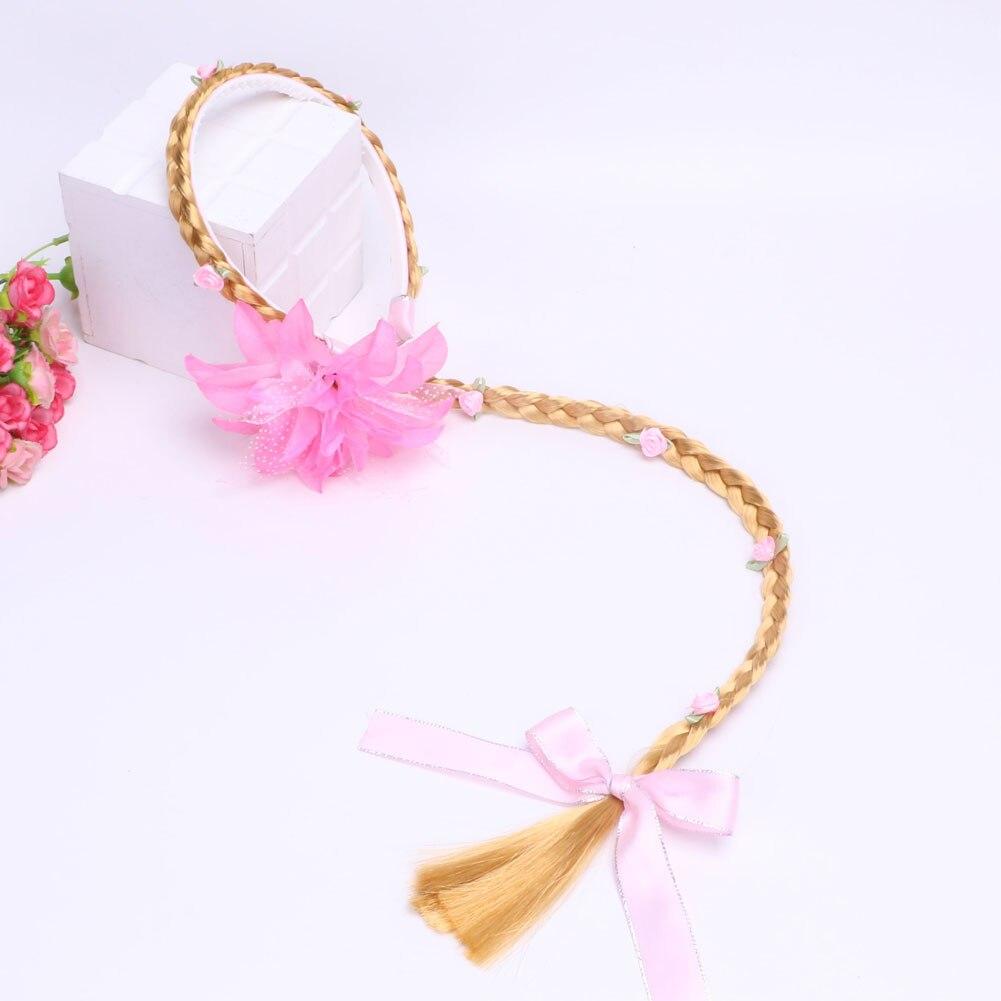Bandeau de princesse tressé Cosplay   Cheveux blond pour filles